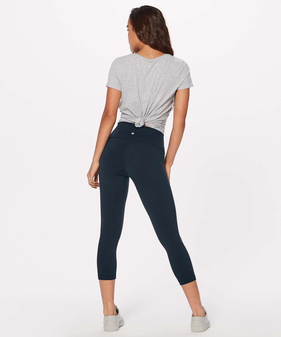 "Lululemon Wunder Under Crop (Hi-Rise) *Full-On Luon 21"" - Nocturnal Teal"