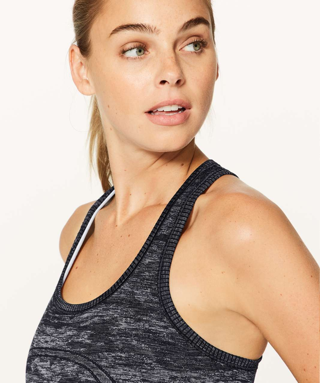Lululemon Swiftly Tech Racerback - Black / White / Black (Camo)