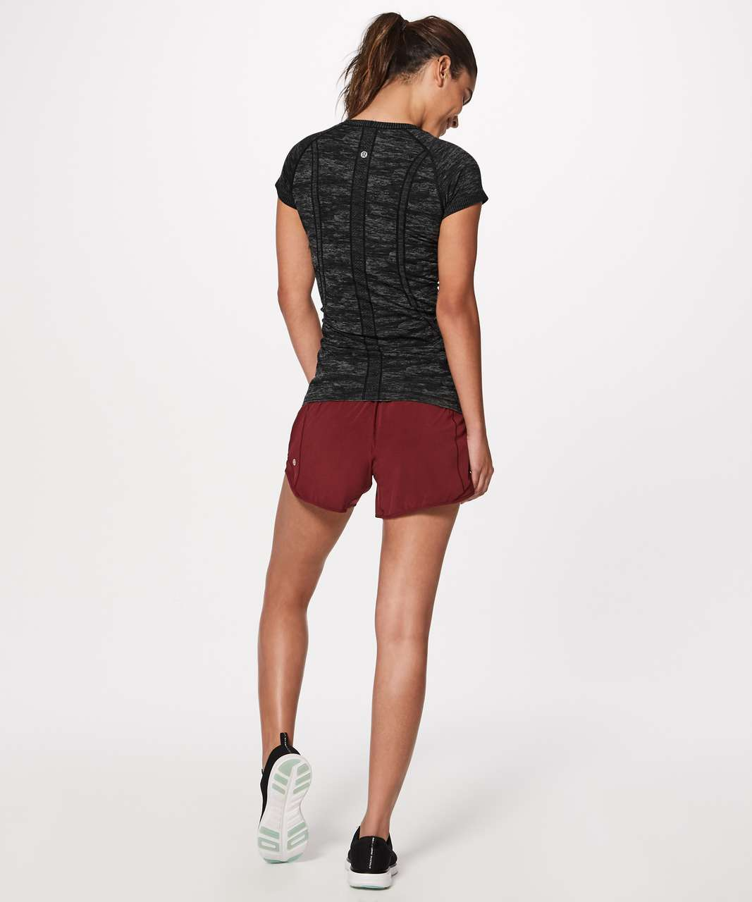 Lululemon Swiftly Tech Short Sleeve Crew - Black / White / Black (Camo)