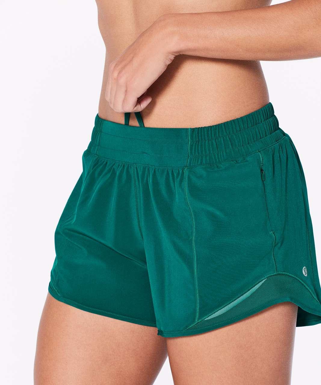 "Lululemon Hotty Hot Short II (Long 4"") - Teal Green"