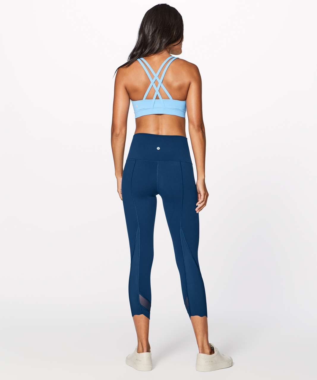 "Lululemon Wunder Under Crop II (Special Edition) (Scallop 23"") - Night Tide"