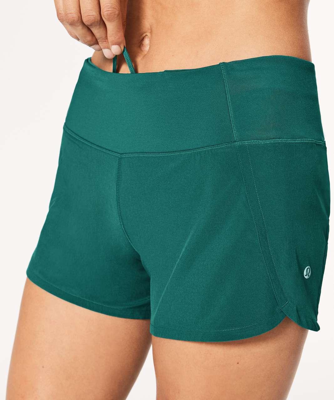 "Lululemon Run Times Short II *4"" - Teal Green"