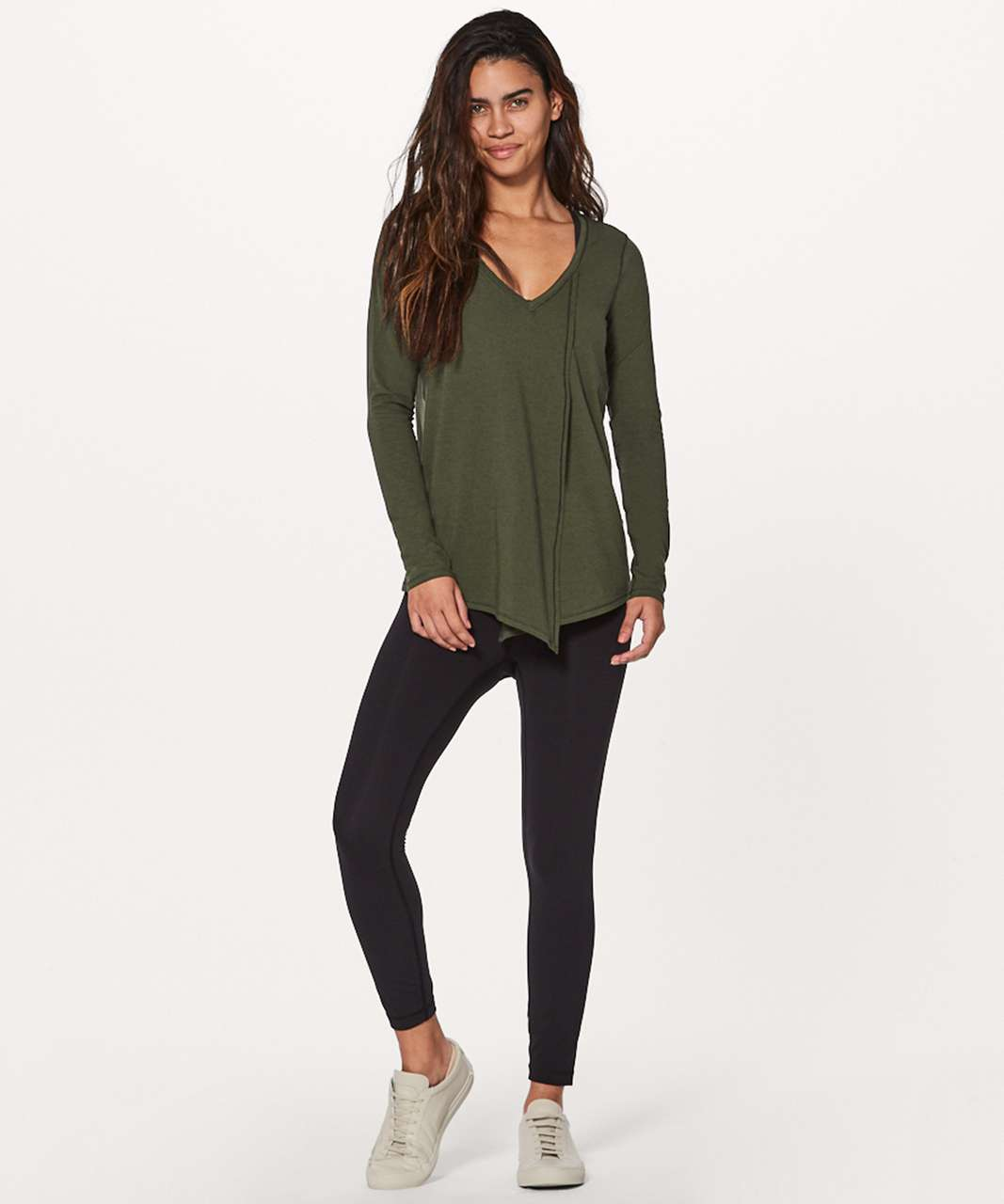 17e2fbeb7d Lululemon Knot A Problem Long Sleeve - Dark Olive - lulu fanatics
