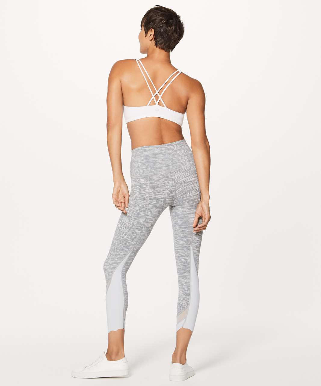 "Lululemon Wunder Under Crop II (Special Edition) *Scallop 23"" - Wee Are From Space Silver Spoon / Silver Spoon"