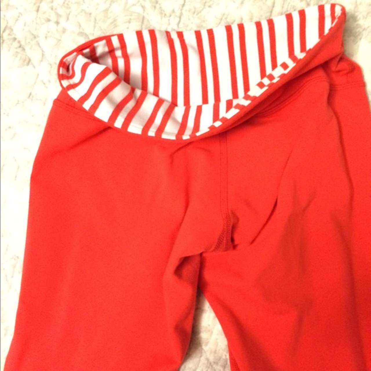 Lululemon Wunder Under Pant *Reversible - Love Red / Twin Stripe Love Red