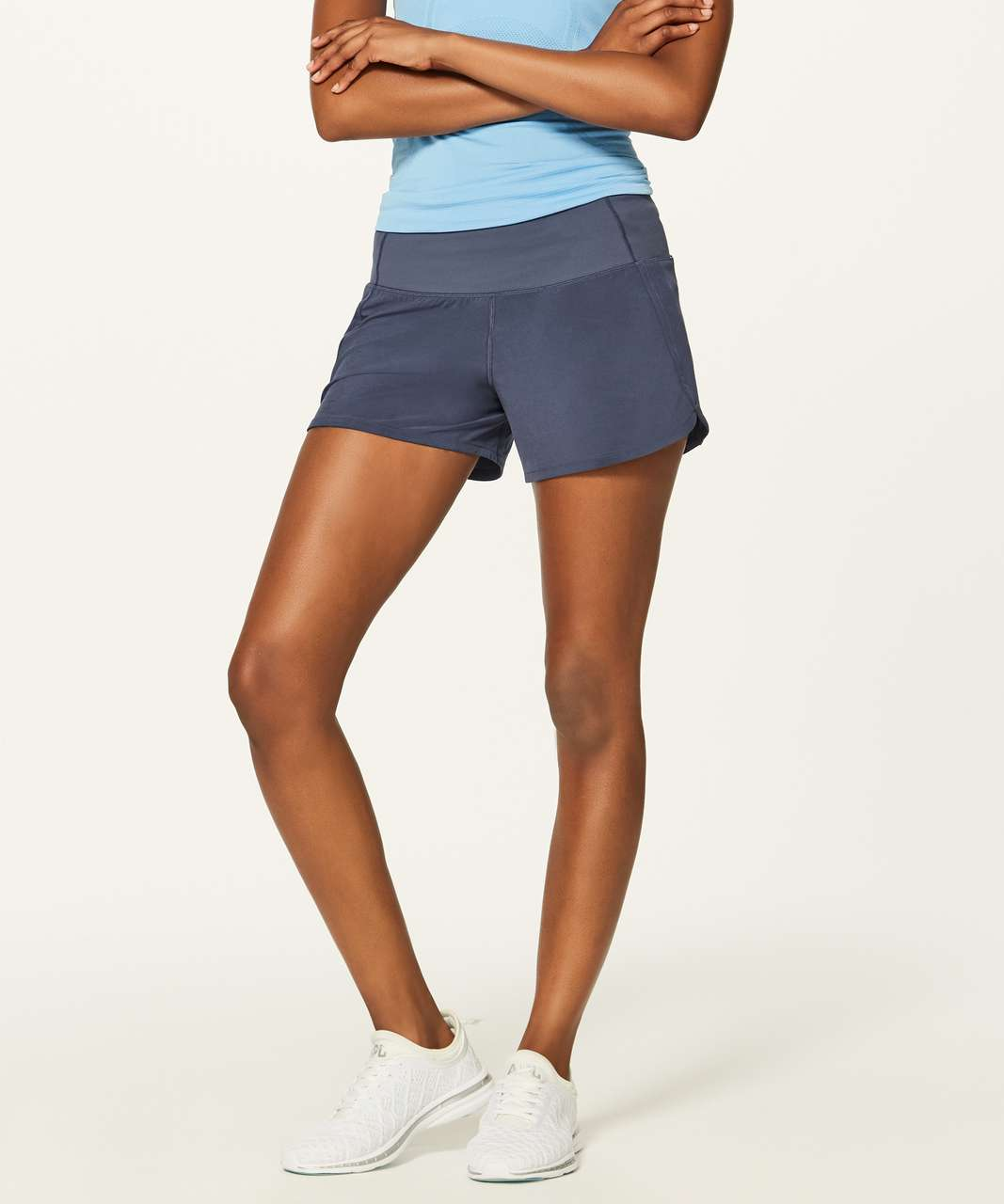 "Lululemon Run Times Short II (4"") - Shadow Blue"