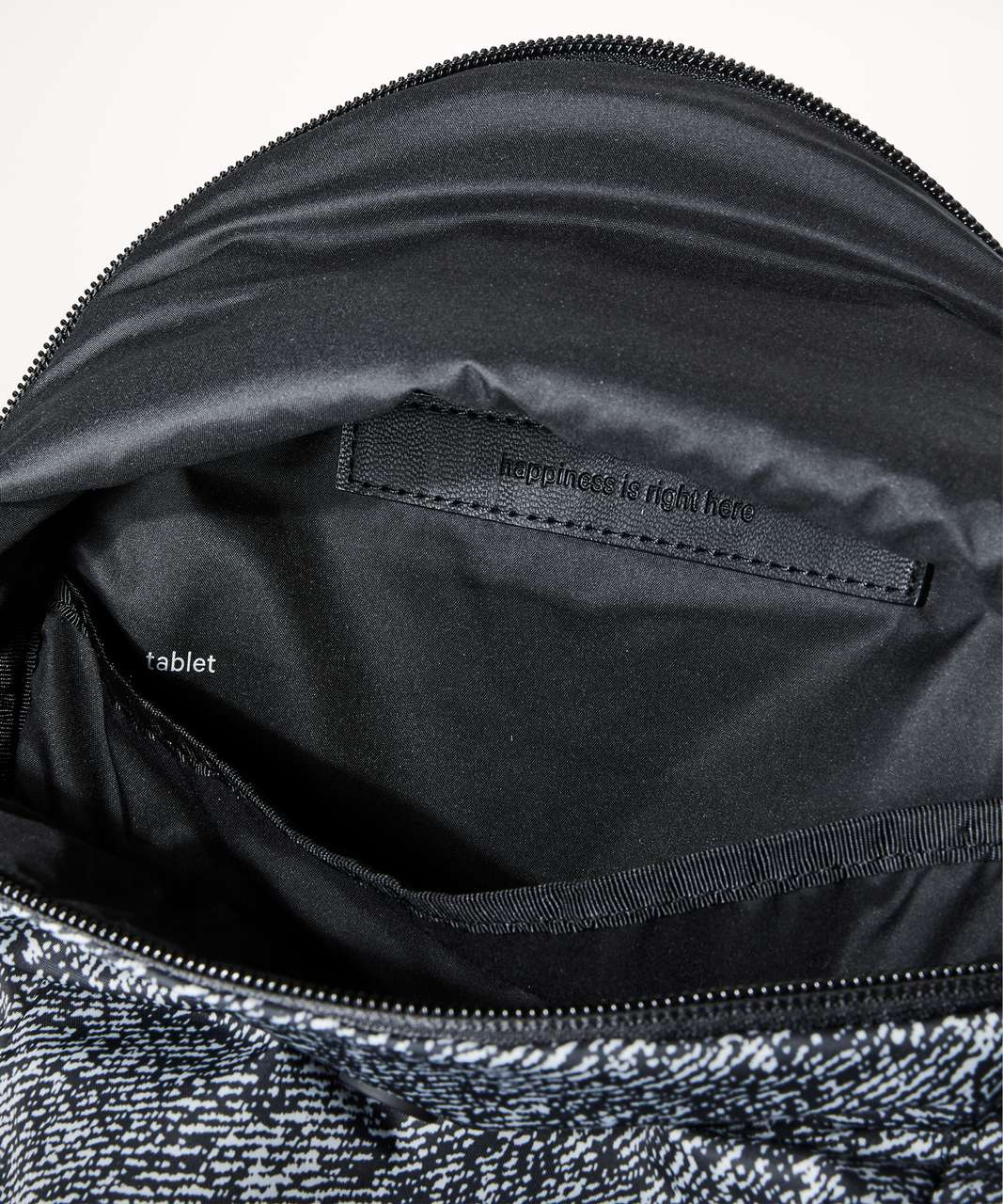 Lululemon Run All Day Backpack II *13L - Irregular Denim Twill Print Ice Grey Black / Black