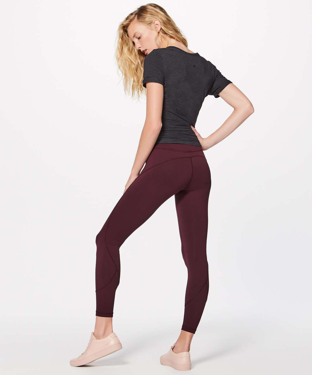 "Lululemon In Movement 7/8 Tight *Everlux 25"" - Garnet"