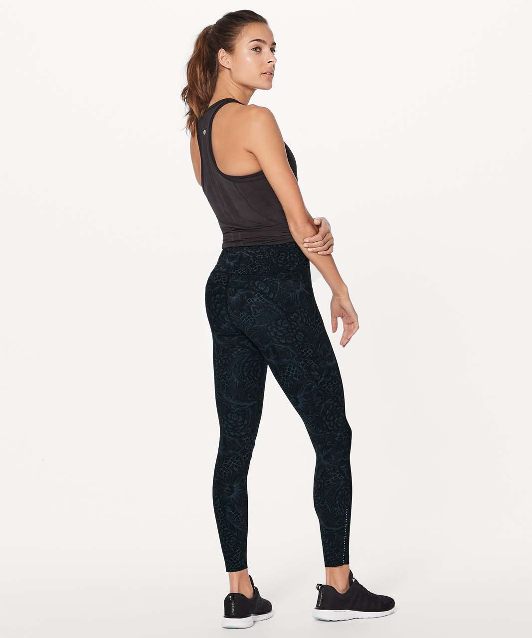 "Lululemon Fast & Free 7/8 Tight II (Nulux 25"") - Nouveau Mach Blue Black"