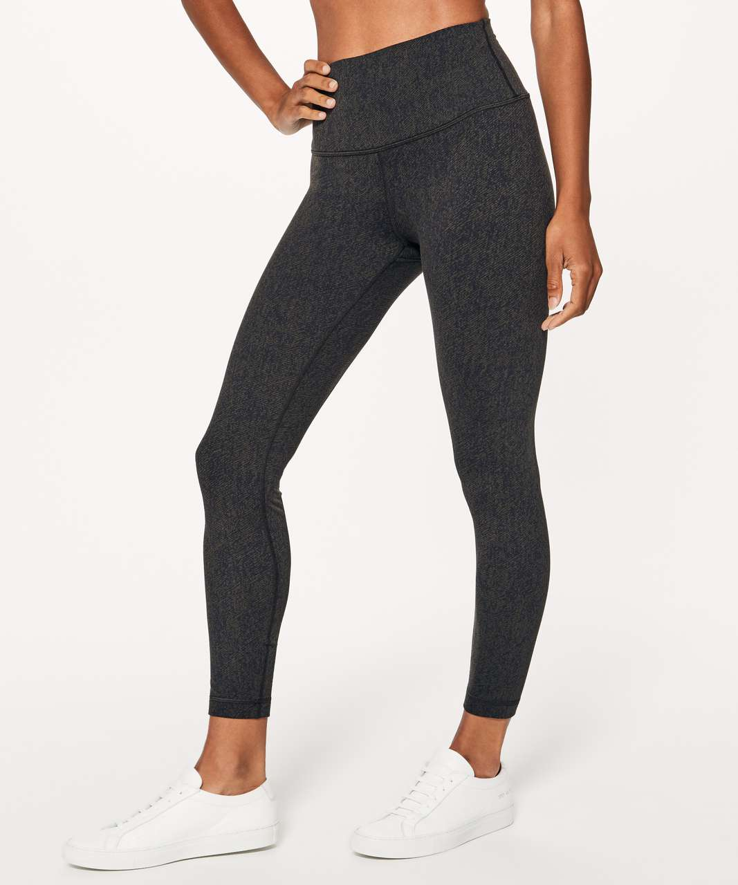"Lululemon Wunder Under Hi-Rise 7/8 Tight (25"") - Irregular Denim Twill Print Dark Olive Black"