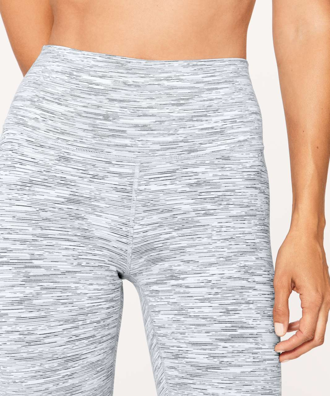 "Lululemon Wunder Under Hi-Rise 7/8 Tight *25"" - Wee Are From Space Ice Grey Alpine White"