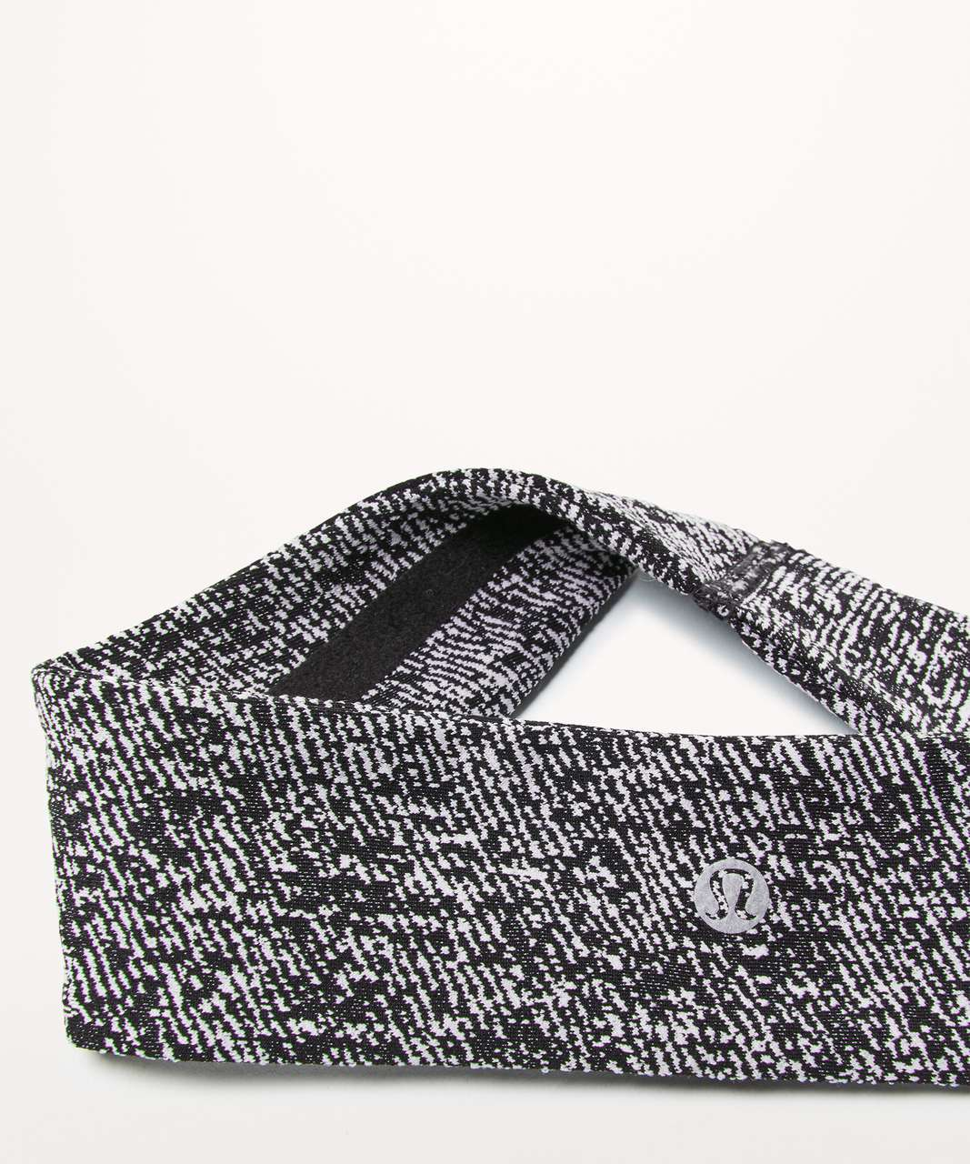 Lululemon Fly Away Tamer Headband II *Luxtreme - Power Luxtreme Irregular Denim Twill Black White