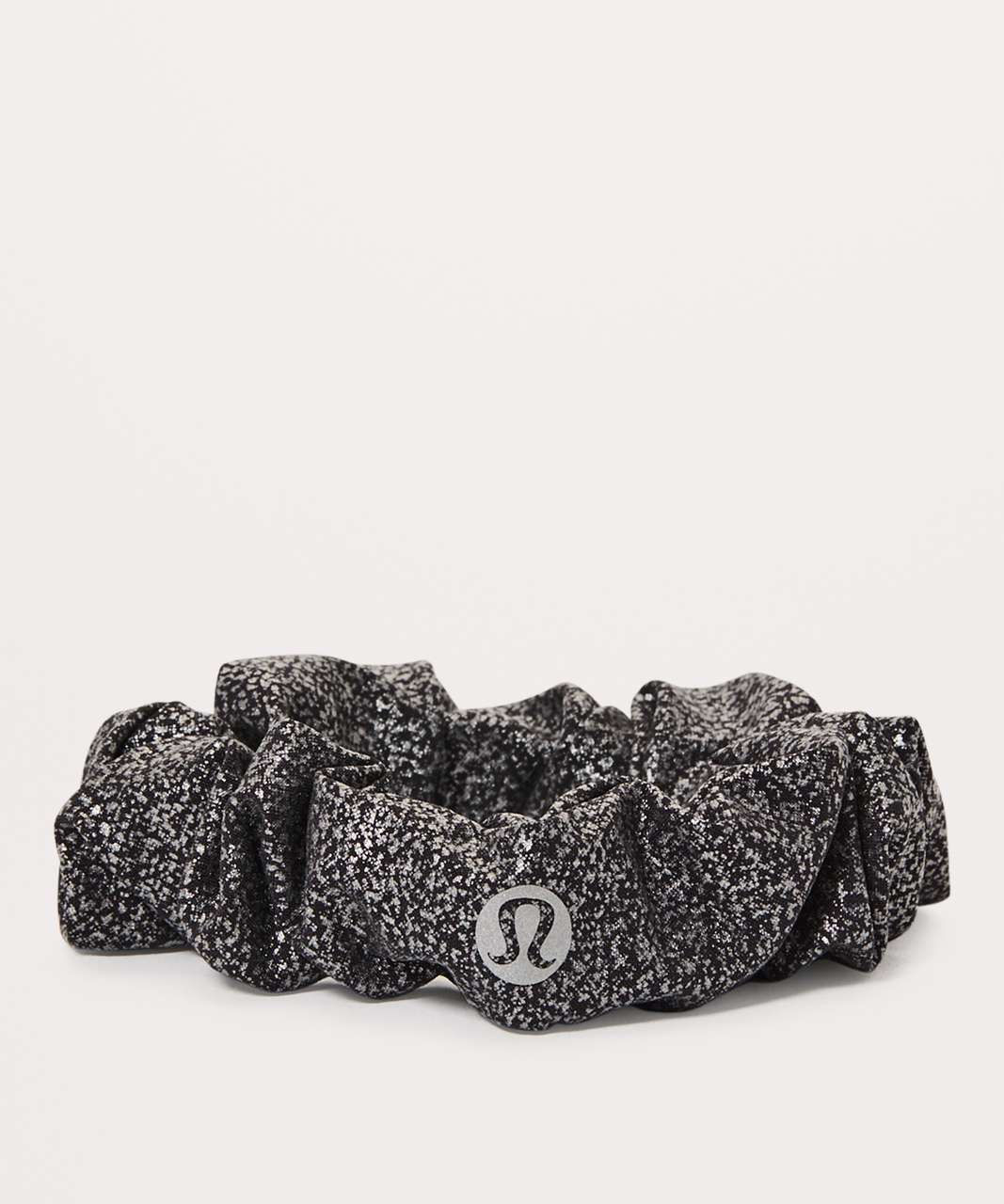 Lululemon Uplifting Scrunchie - Luminosity Foil Print Black Silver