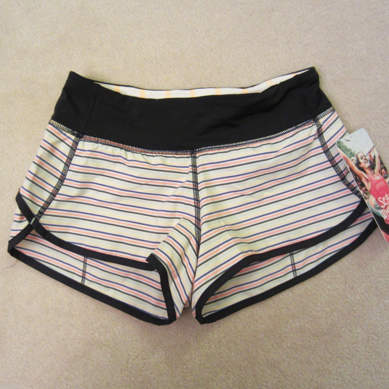 Lululemon Speed Short - 2013 Seawheeze - Mountie Stripe