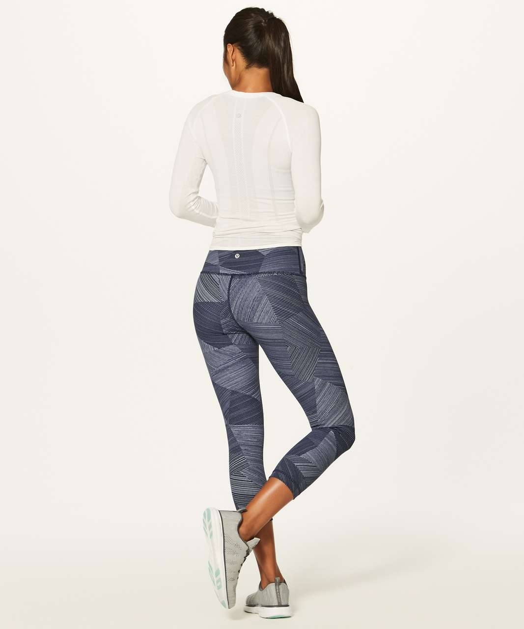 "Lululemon Wunder Under Crop (Hi-Rise) (Full-On Luxtreme 21"") - Etch Hail Midnight Navy"