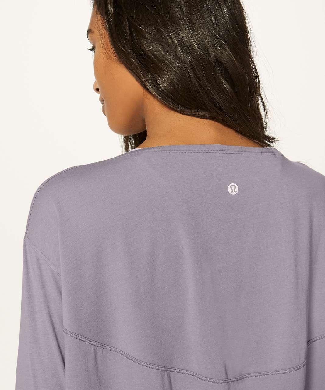 Lululemon Back In Action Long Sleeve - Lavender Grey