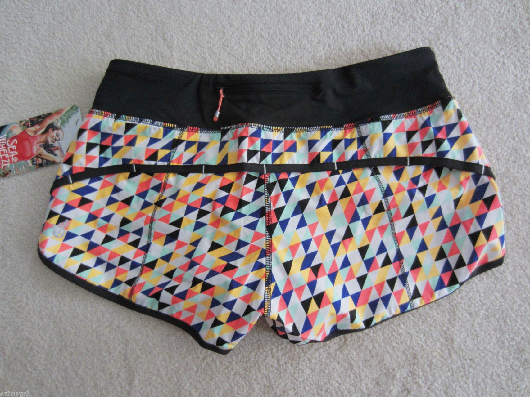Lululemon Speed Short - 2013 Seawheeze - Tri Check Angel Wing/Black/Mountie Stripe Multi
