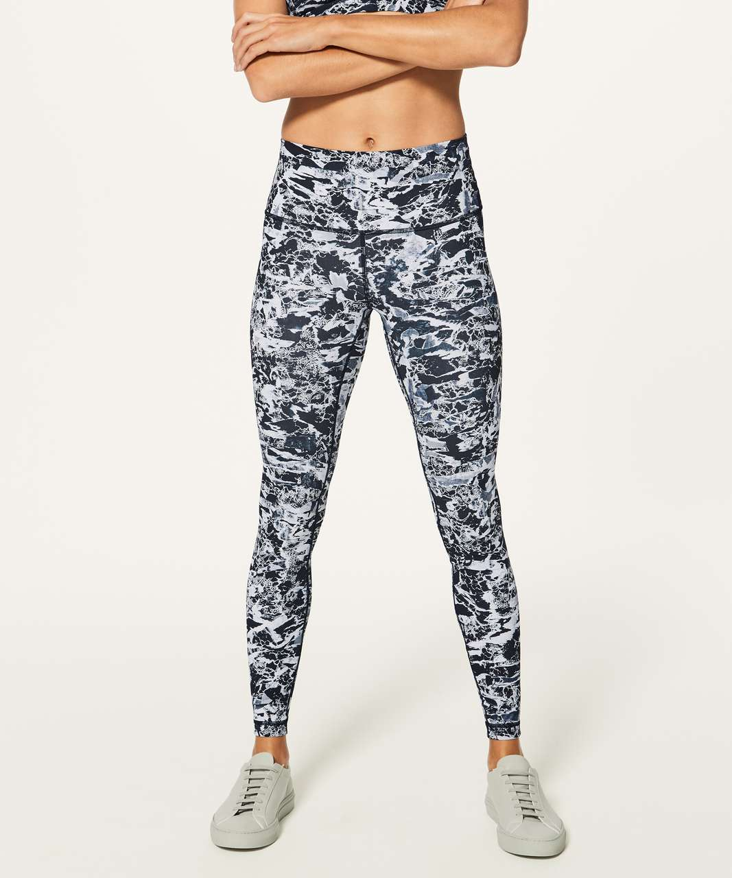"Lululemon Wunder Under Hi-Rise Tight (Full-On Luxtreme 28"") - Interlaced Starlight Black"