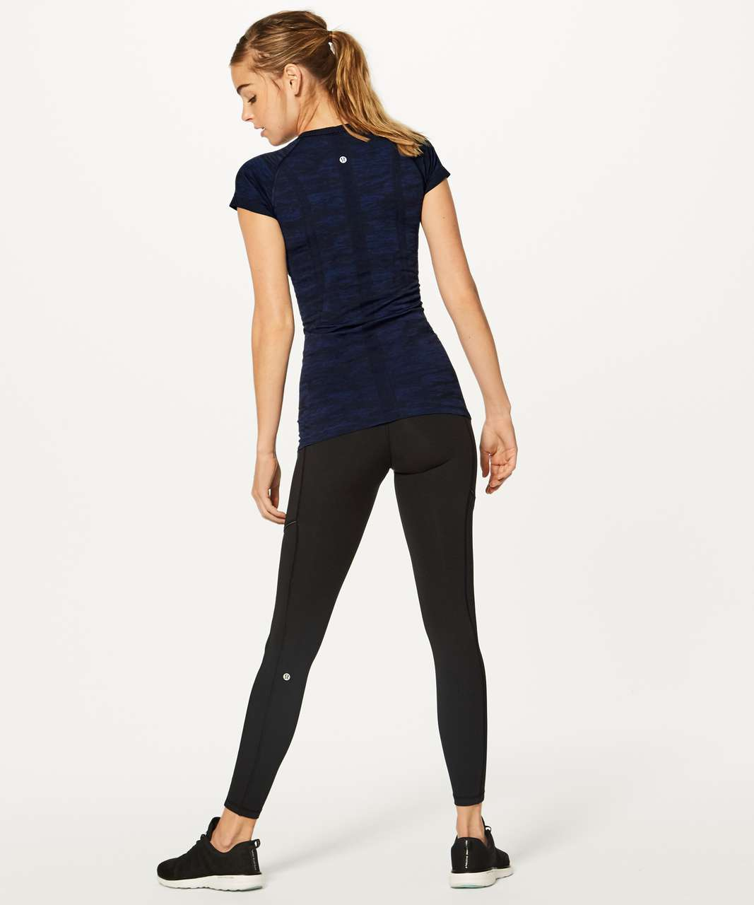 Lululemon Swiftly Tech Short Sleeve Crew - Midnight Navy / Psychic / Black