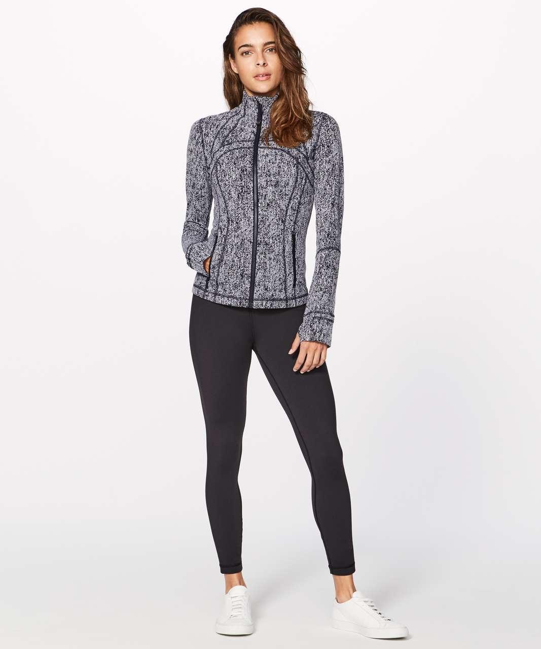 Lululemon Define Jacket - Luon Irregular Denim Twill Black White