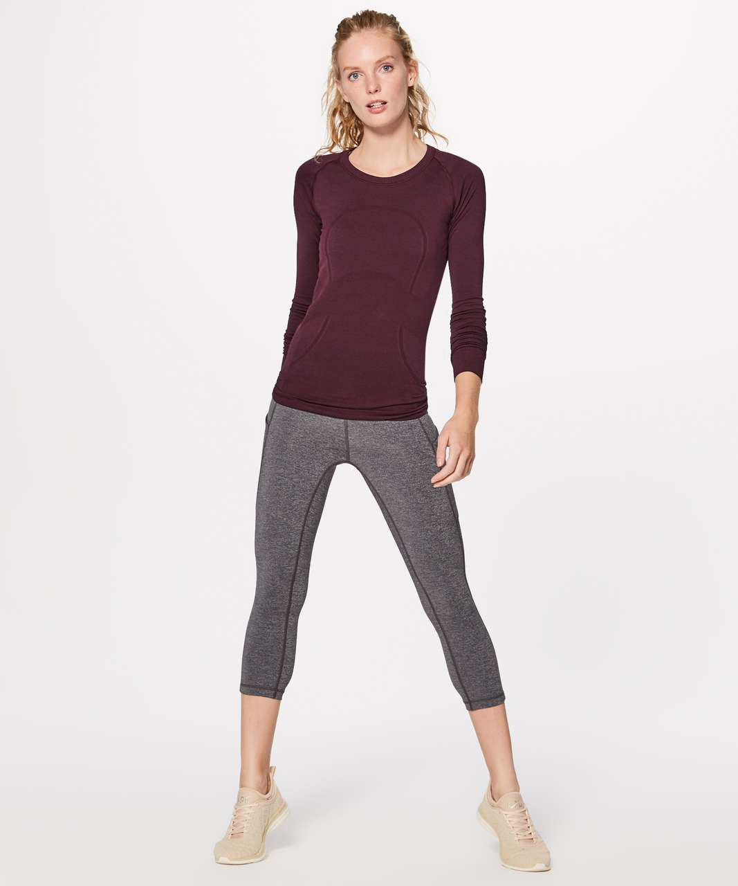 Lululemon Swiftly Tech Long Sleeve Crew - Garnet / Garnet