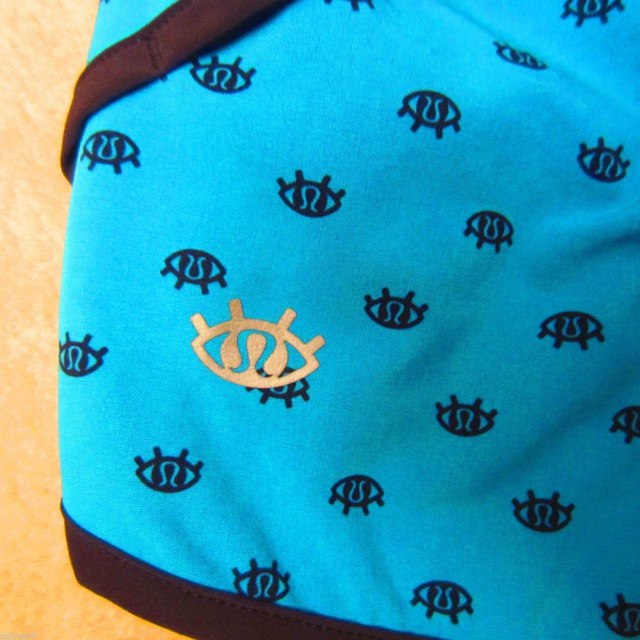 Lululemon Speed Short - 2014 Seawheeze - Turquoise with Black SW Eyes
