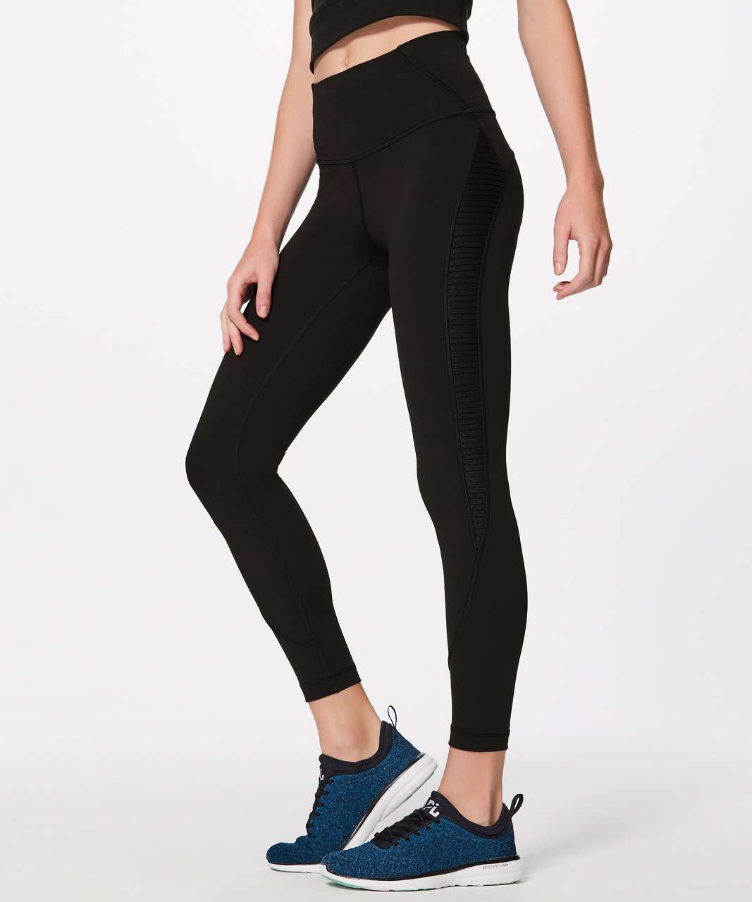 "Lululemon Wunder Under Hi-Rise Tight (Pleat It) (Full-On Luxtreme 28"") - Black"