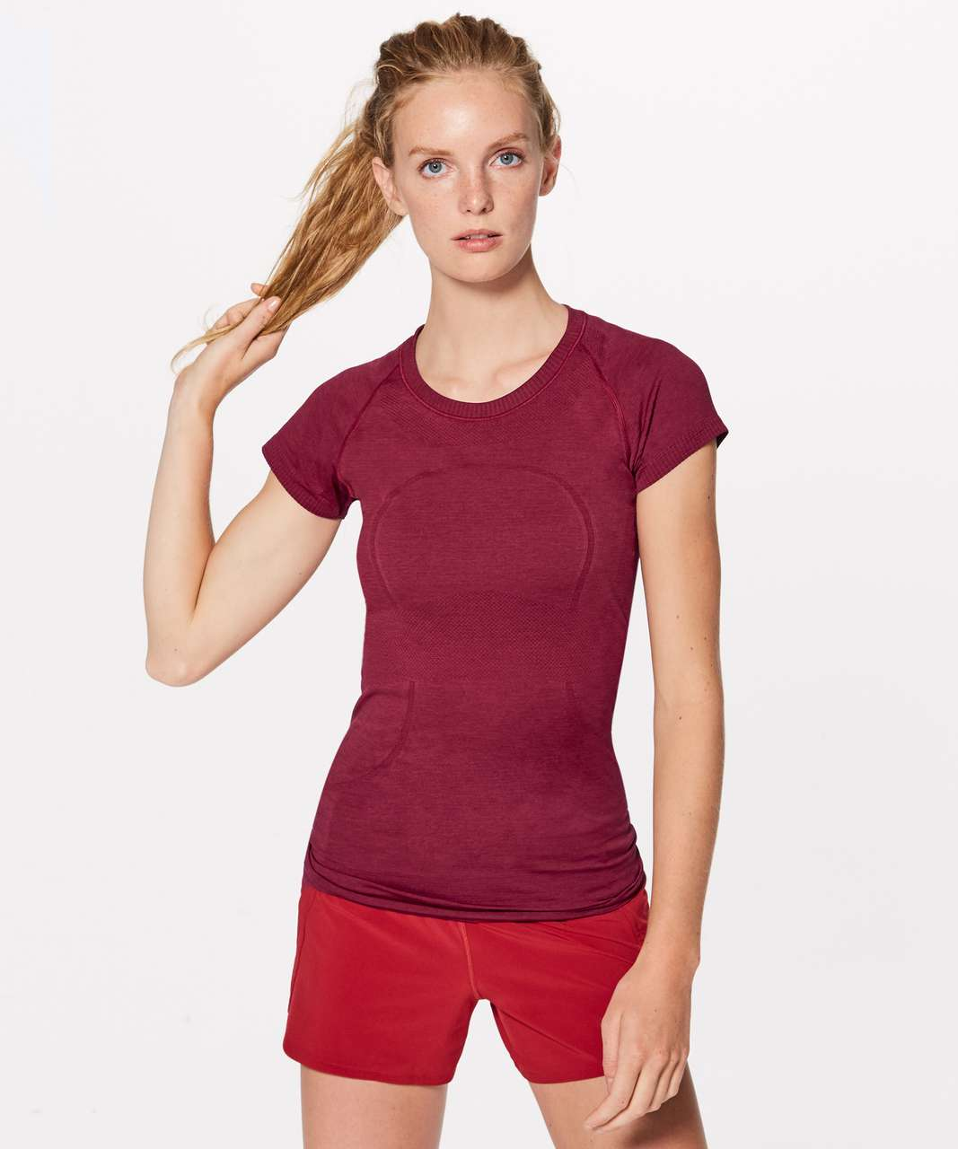 Lululemon Swiftly Tech Short Sleeve Crew - Scarlet / Scarlet