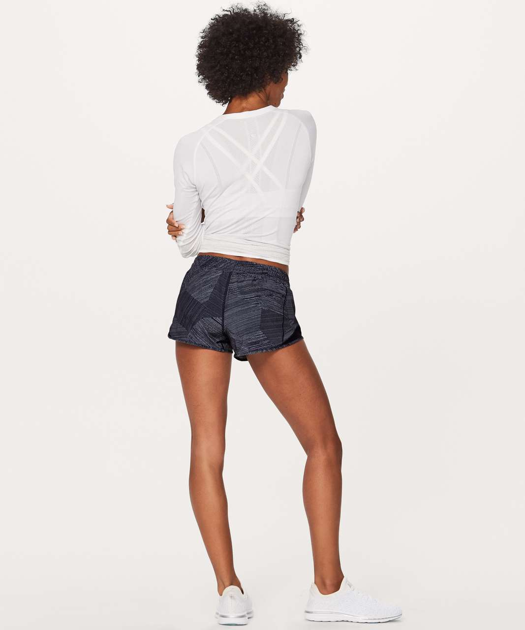 "Lululemon Hotty Hot Short II (2.5"") - Etch Hail Midnight Navy / Midnight Navy"