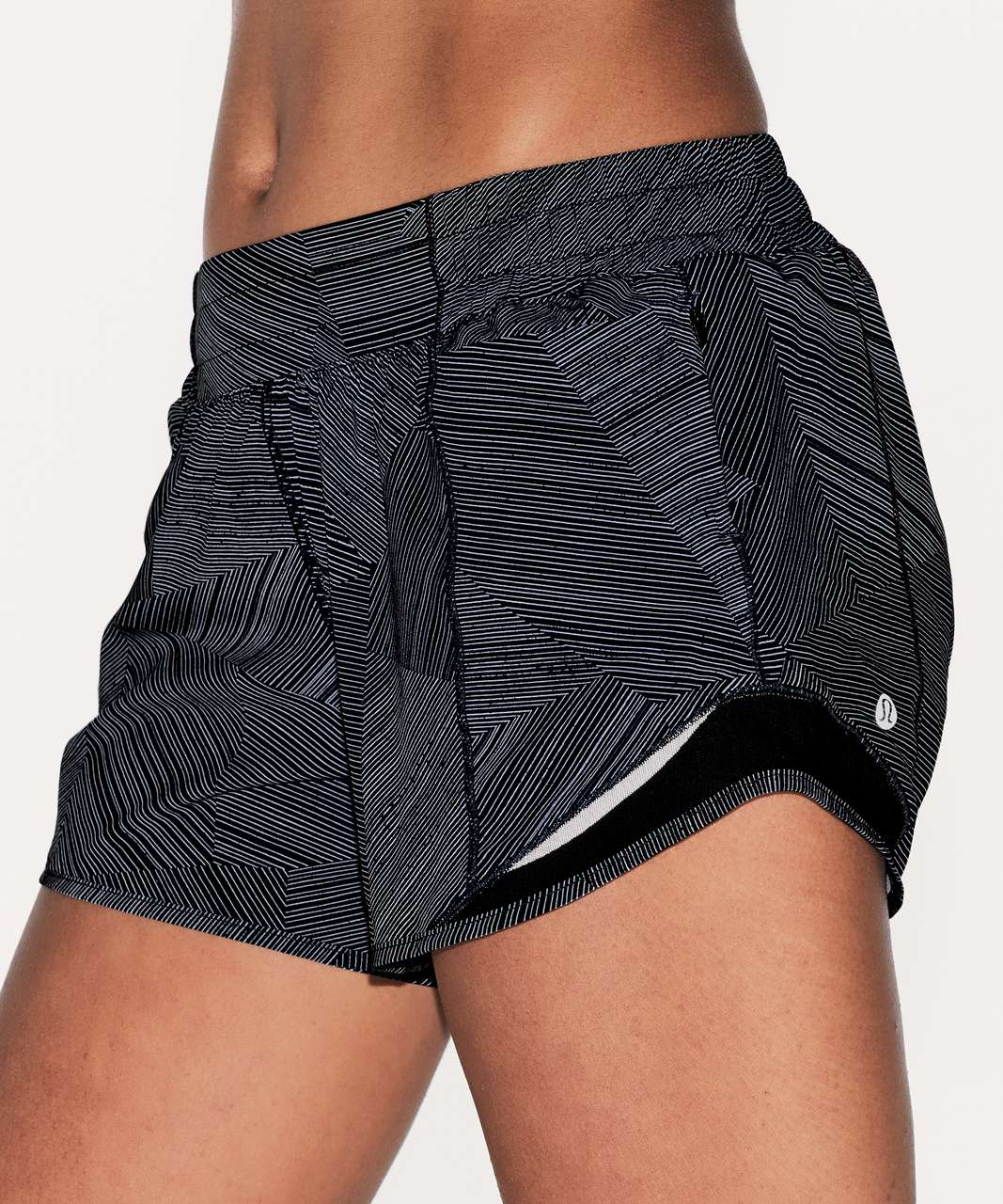 "Lululemon Hotty Hot Short II (Long 4"") - Etch Hail Midnight Navy / Midnight Navy"