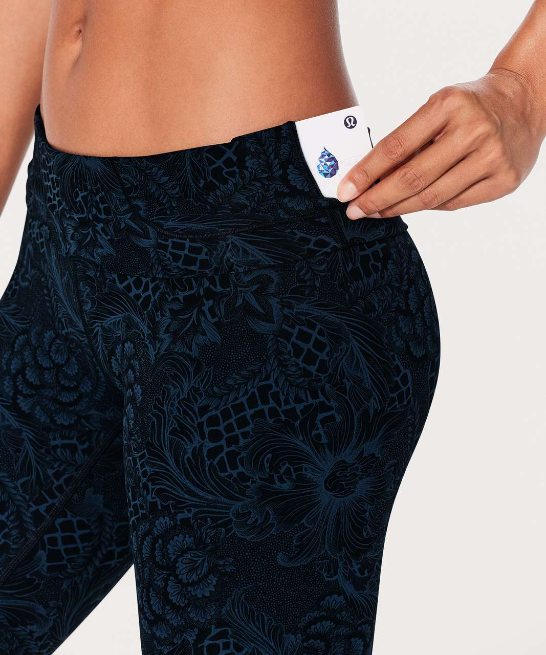 "Lululemon Wunder Under Hi-Rise 7/8 Tight (Full-On Luxtreme 25"") - Nouveau Mach Blue Black"