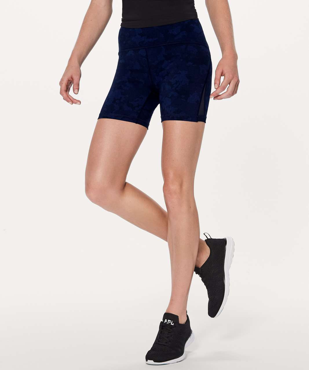 "Lululemon Train Times Short *6"" - Camouflaged Midnight Navy Black / Black"