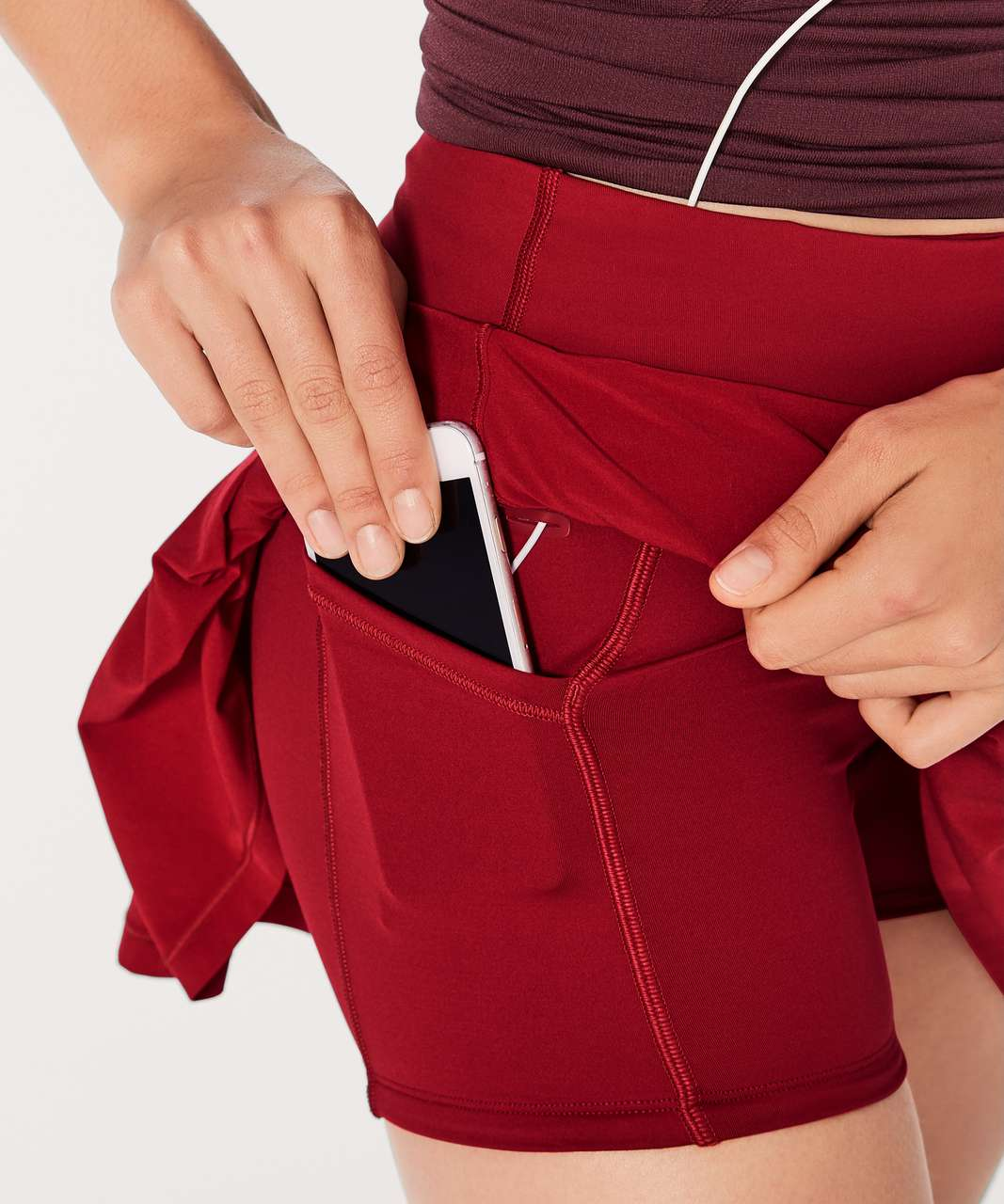 "Lululemon Circuit Breaker Skirt II (Tall) (15"") - Scarlet"