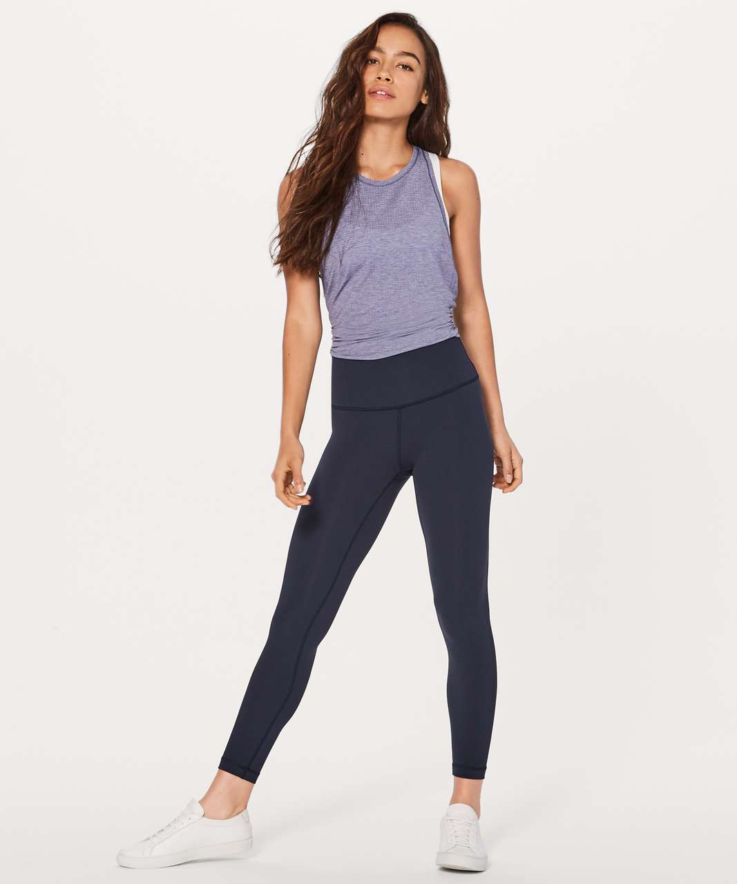 "Lululemon Wunder Under Hi-Rise 7/8 Tight *Brushed 25"" - Midnight Navy"
