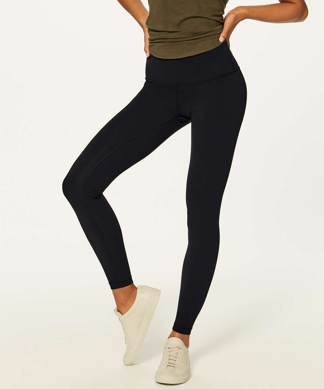 "Lululemon Wunder Under Hi-Rise Tight (Brushed 28"") - Black"