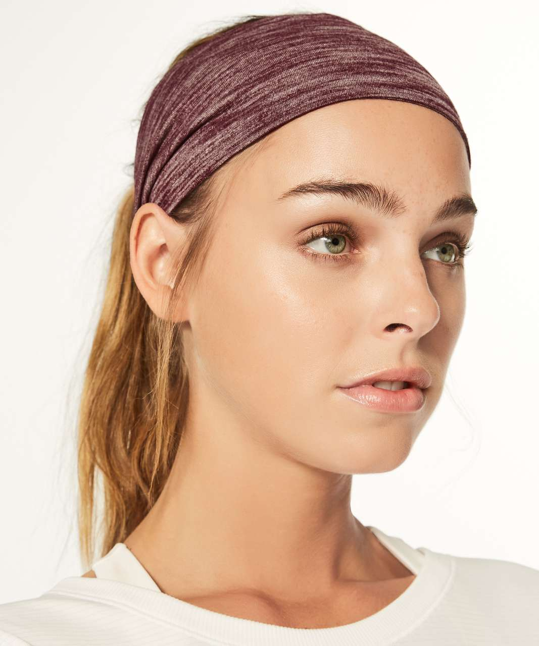 481cc1be80f Lululemon Fringe Fighter Headband - Heathered Garnet - lulu fanatics