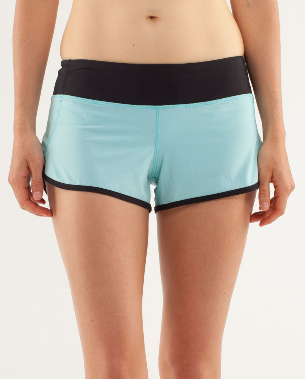Lululemon Run:  Speed Short - Angel Blue / Black