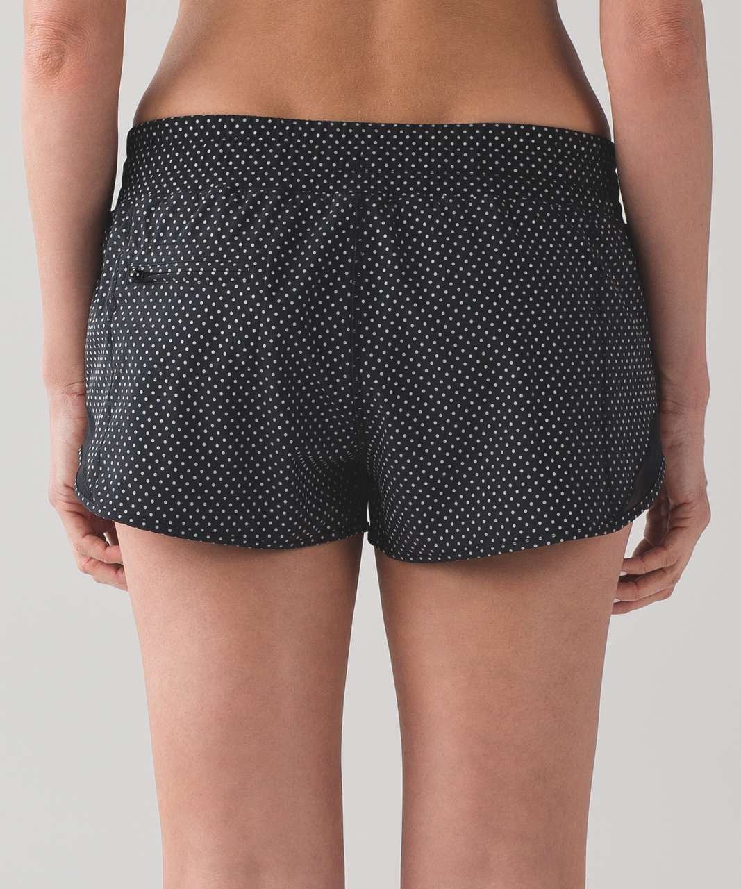 "Lululemon Hotty Hot Short (Shine Bright 2.5"") - Reflective Polka Dot Silver / Black"