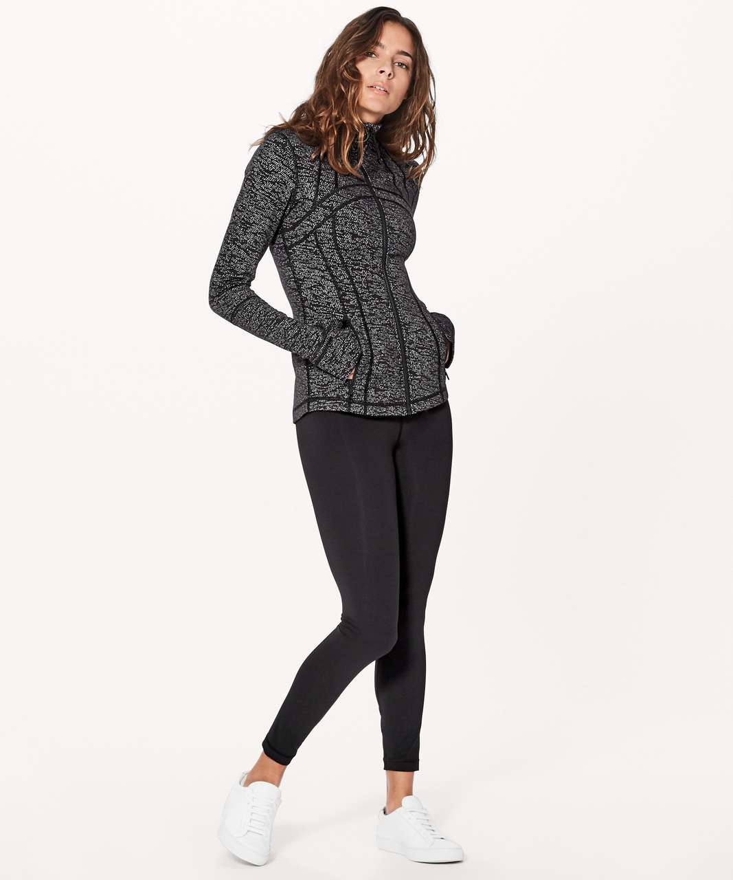 Lululemon Define Jacket - Luon Frayed Camo Black White