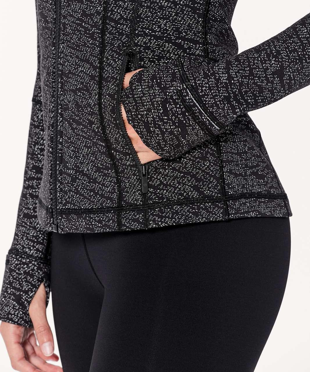 Lululemon Define Jacket - Luon Frayed Camo Black White