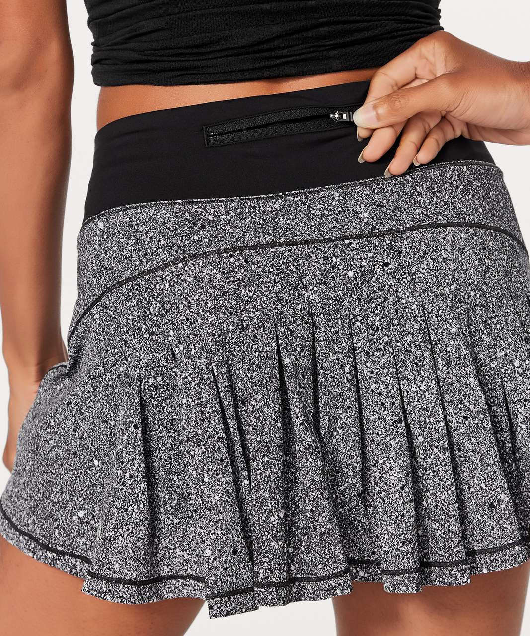 "Lululemon Circuit Breaker Skirt II (Regular) (13"") - Luminesce Splatter White Black / Black"