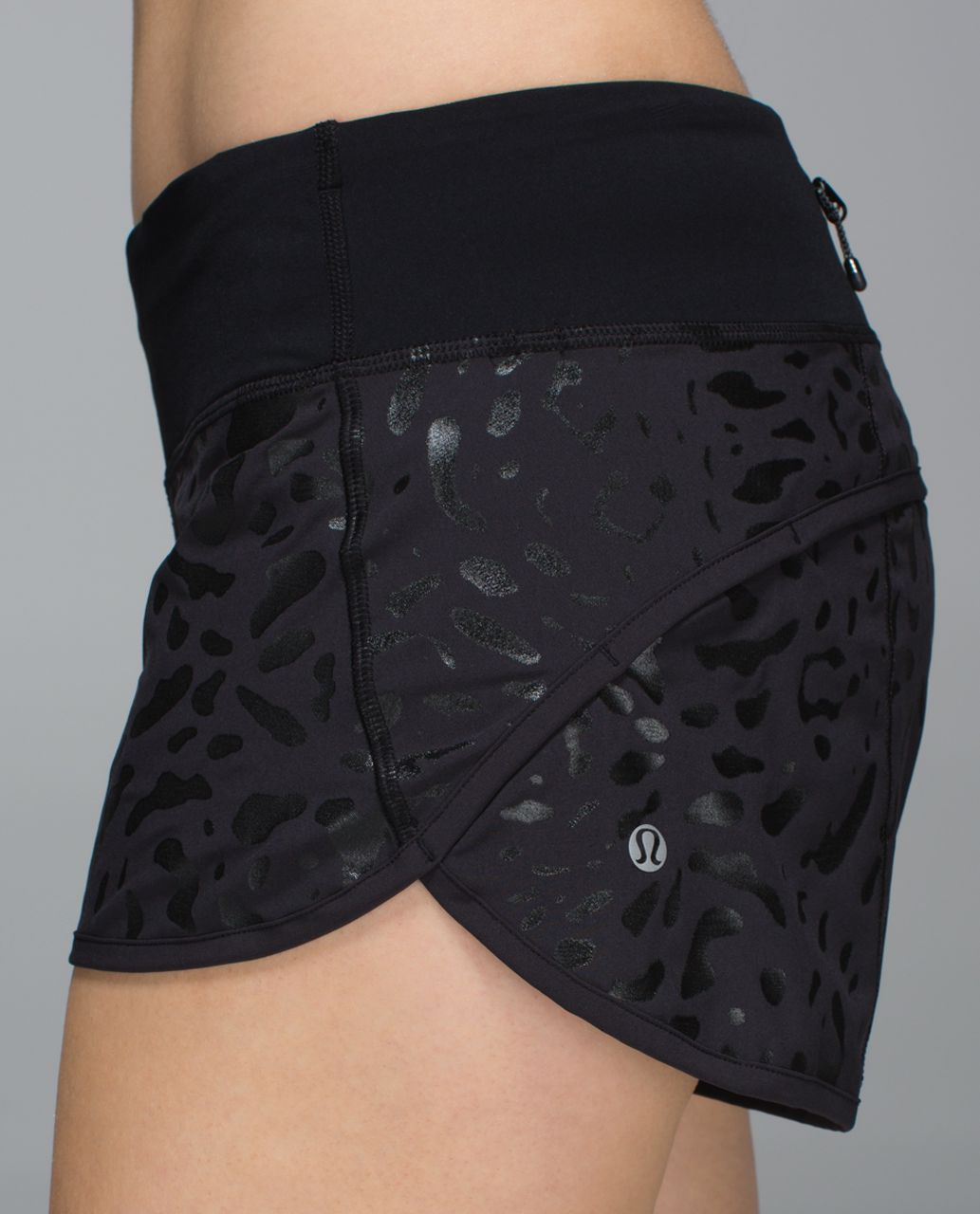 Lululemon Run:  Speed Short *4-way Stretch - Black /  Black