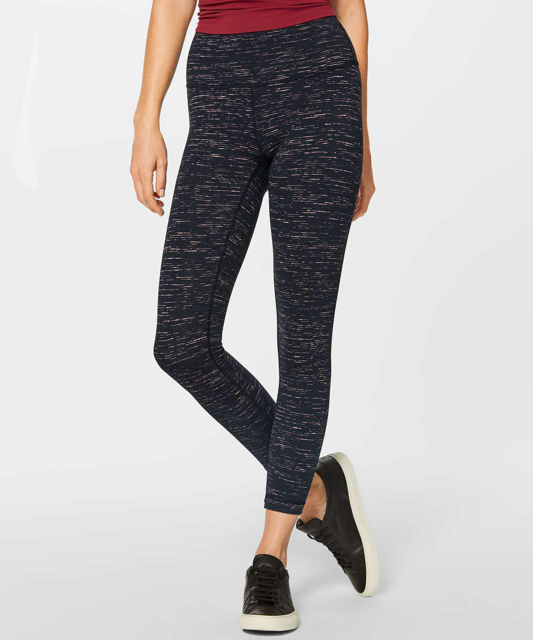 "Lululemon Wunder Under Hi-Rise 7/8 Tight (25"") - Luon Warp Speed Filtered Orange Electric Coral"