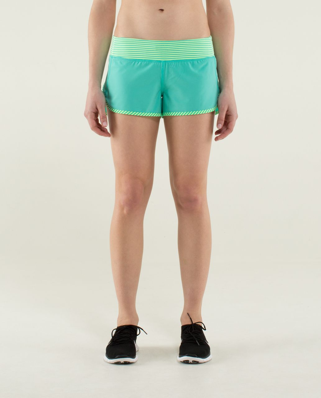 Lululemon Run:  Speed Short *4-way Stretch - Bali Breeze / 1/8 Stripe Printed Bali Breeze