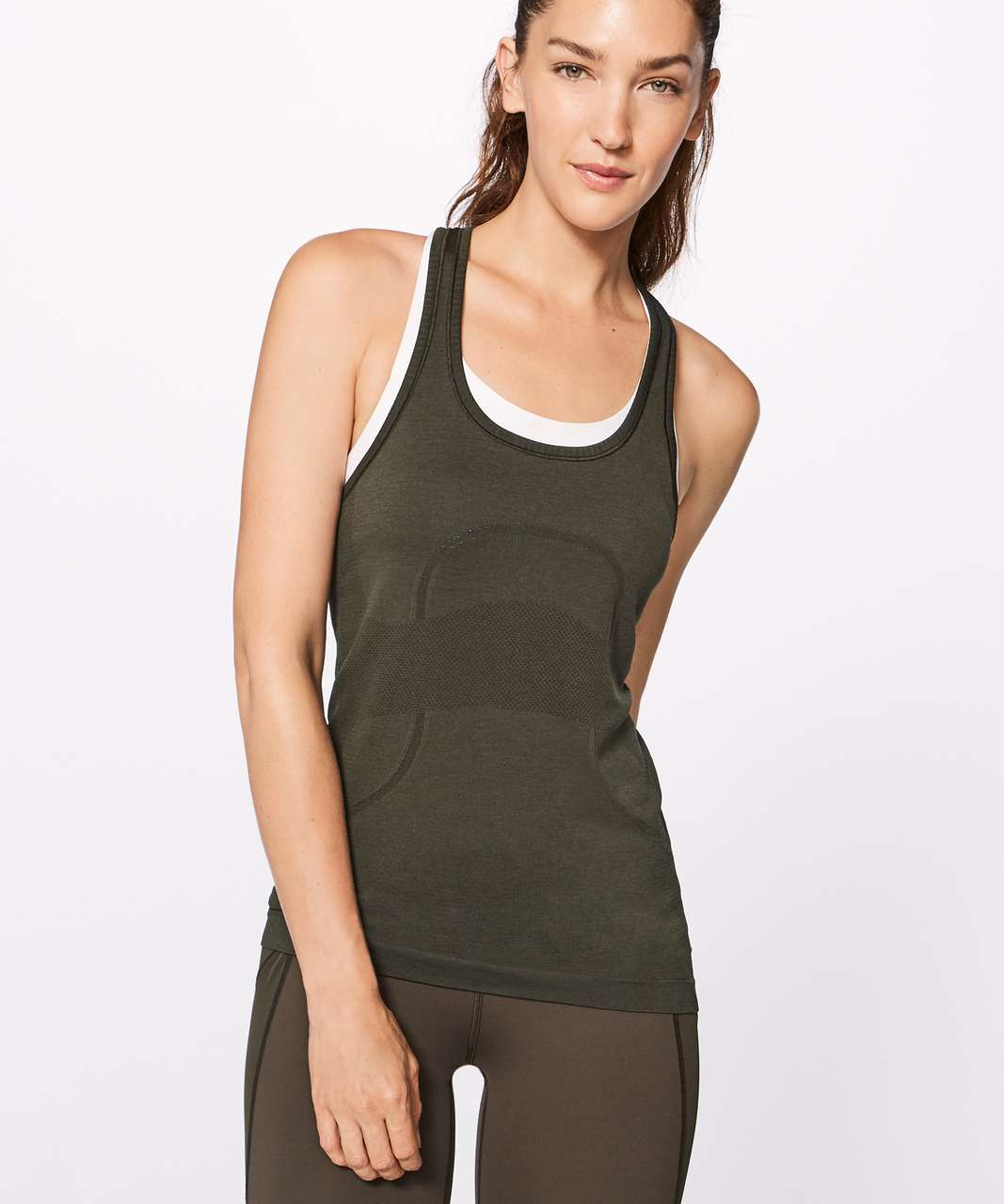 Lululemon Swiftly Tech Racerback - Dark Olive / Dark Olive