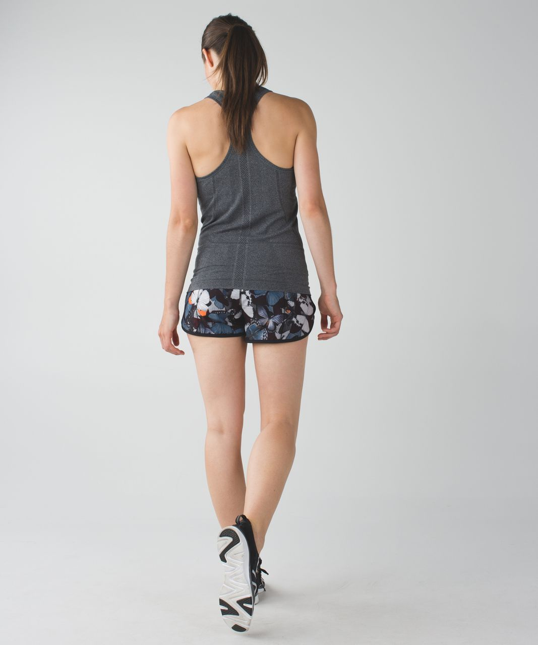 Lululemon Run:  Speed Short *4-way Stretch - Biggie So Fly Butterfly Pizzaz Multi / Black