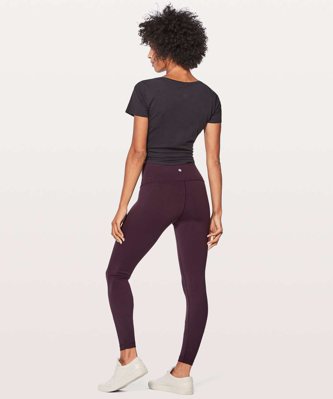 "Lululemon Wunder Under Hi-Rise Tight (Full-On Luon 28"") - Black Cherry"