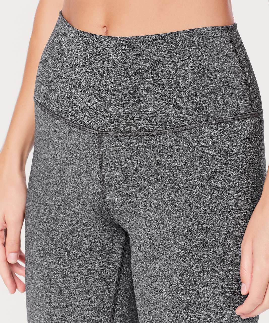 "Lululemon Wunder Under Crop (Hi-Rise) *Luxtreme 21"" - Heathered Black"