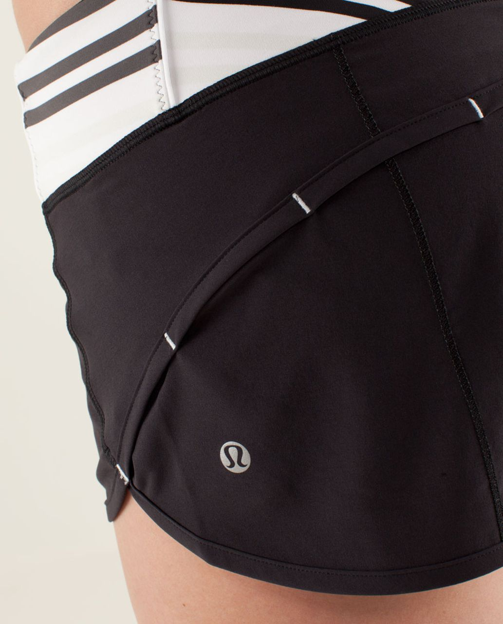 Lululemon Run:  Speed Short - Black / Quilt Summer13 2