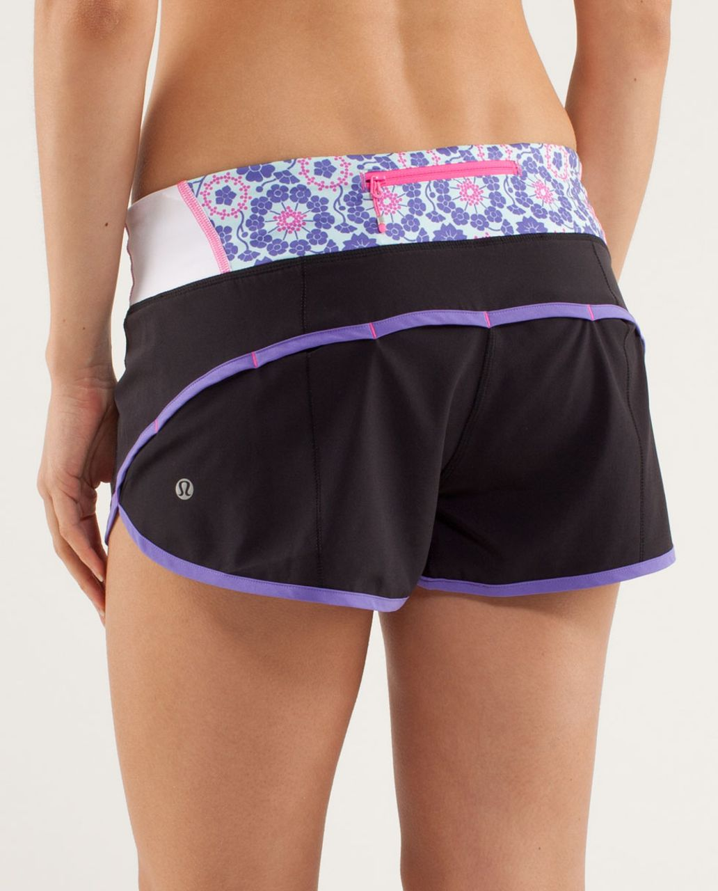 Lululemon Run:  Speed Short - Black / Power Purple / Quilt Summer13 1